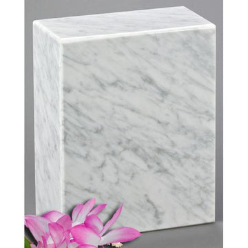 AEternitas Bianco Carrera Child Marble Urn