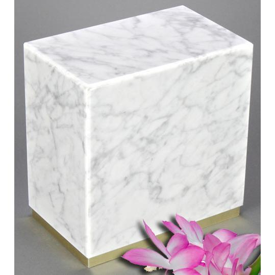 Dignity White Marble Urn