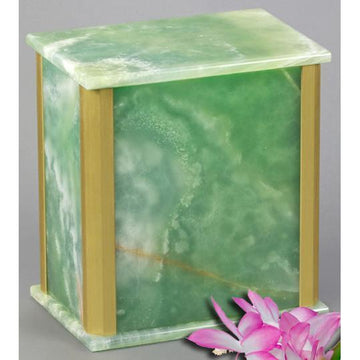 Solitude Green Onyx Urn