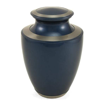 Trinity Moonlight Blue Brass Urn
