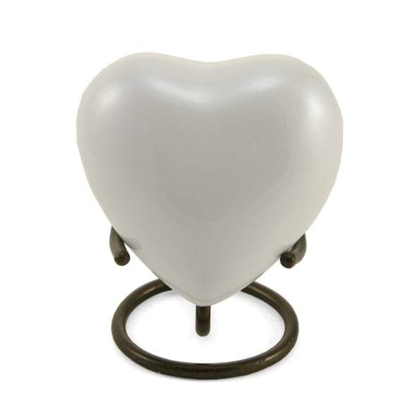 Trinity Pearl Brass Heart Cremation  Keepsake