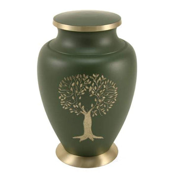 Aria Tree of Life Solid Brass Urn