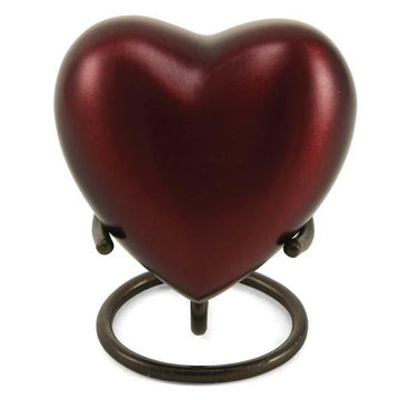 Grecian Crimson Solid Brass Heart Keepsake