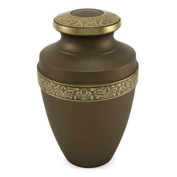 Grecian Rustic Bronze Solid Brass Cremation Urn