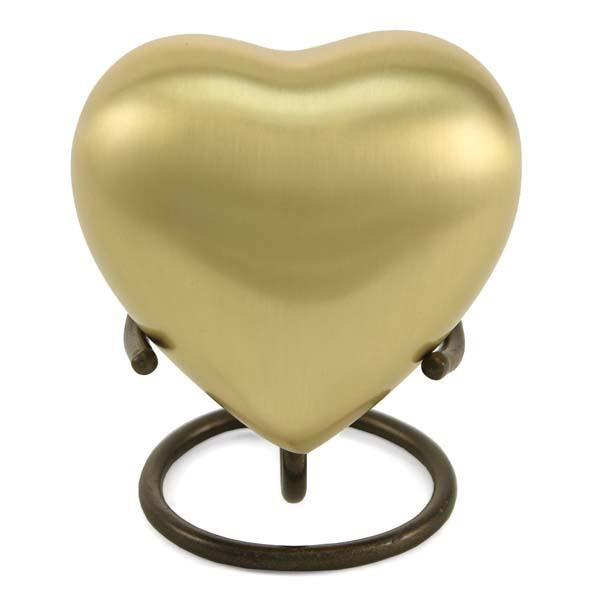 Grecian Rustic Bronze Solid Brass Heart Keepsake