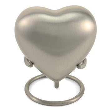 Grecian Rustic Pewter Solid Brass Heart Keepsake