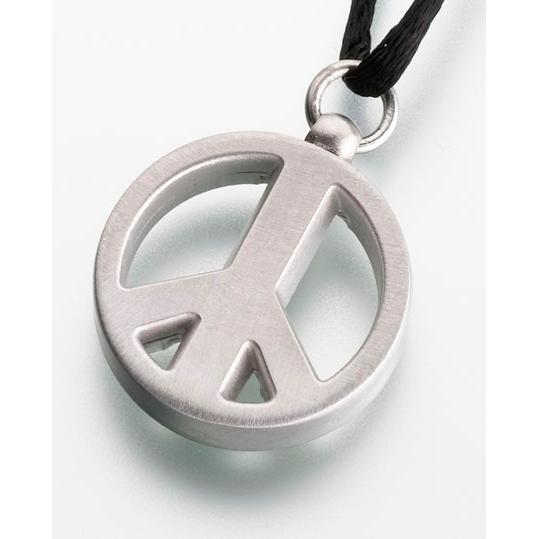 Pewter Peace Sign Pendant