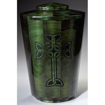 Steve Shannon Wood Iona Cross Adult Urn