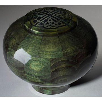 Steve Shannon Wood Celtic Knot Adult Urn