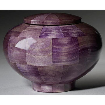 Steve Shannon Wood Infant Urn #21 Peony Purple