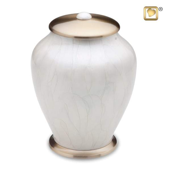 Simplicity Solid Brass Pearl Urn