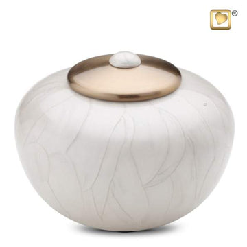 Simplicity Solid Brass Round Pearl Urn
