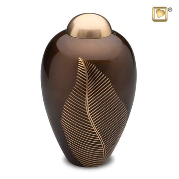 Bronze Leaf Solid Brass Urn