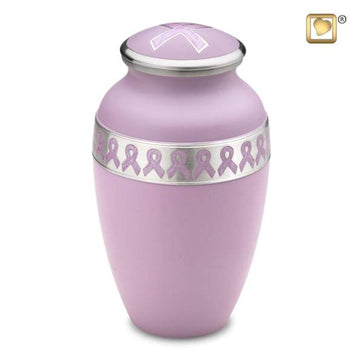 Awareness Pink Solid Brass Urn