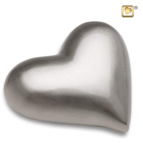 Heart Brushed Pewter Keepsake