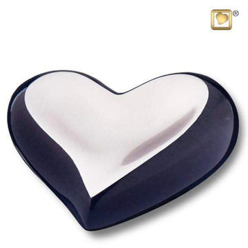 Heart Brushed Pewter Midnight Keepsake