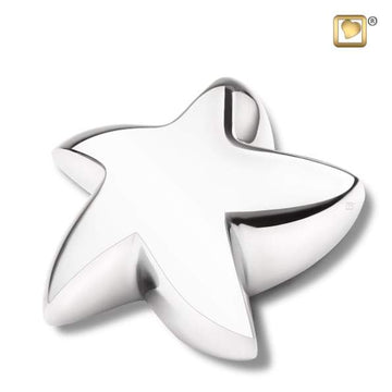 Star Bright Silver Cremation Keepsake