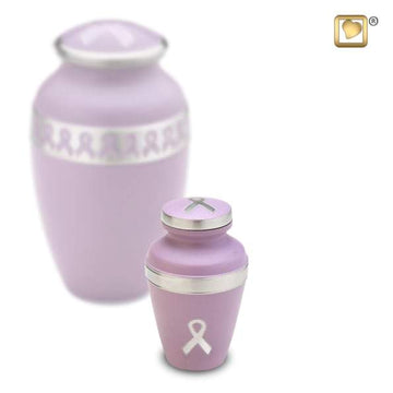 Awareness Pink Solid Brass Keepsake