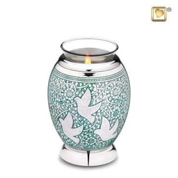 Returning Home Solid Brass Cremation Tealight