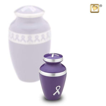 Awareness Purple Solid Brass Keepsake