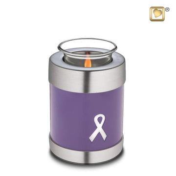 Awareness Purple Solid Brass Tealight