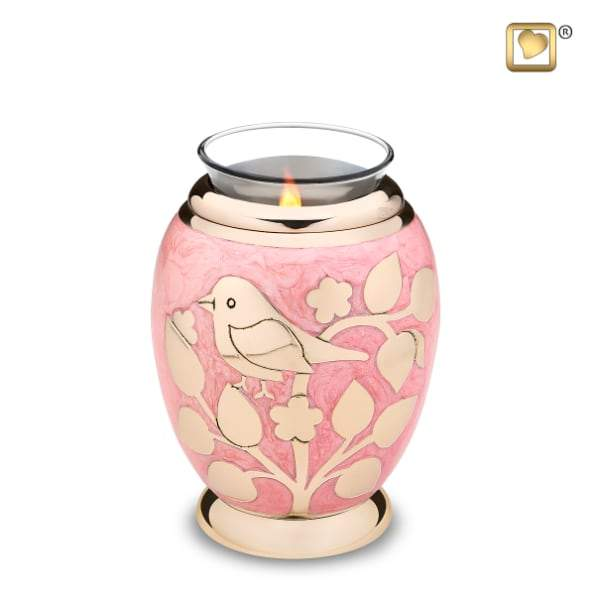 Tealight Gold Blessing Birds