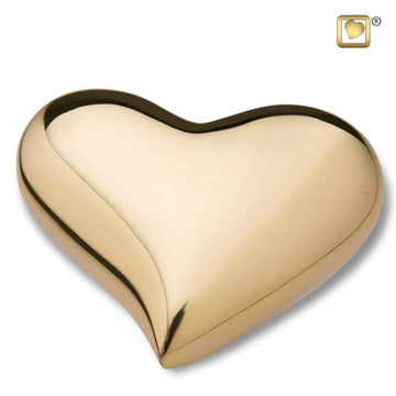 Gold Heart Keepsake Urn