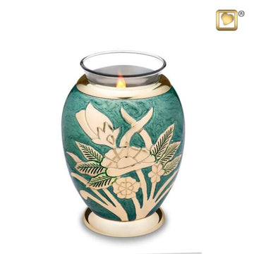 Emerald Rose Tealight Cremation Keepsake