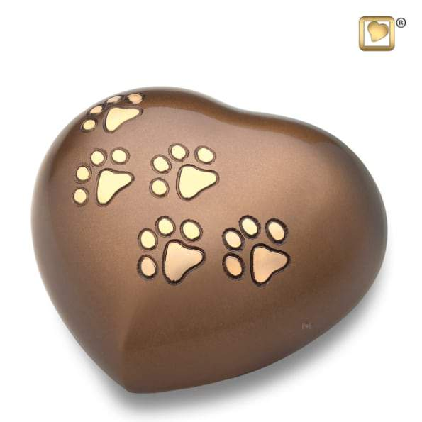 Heart Bronze Pet Urn