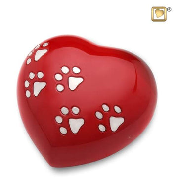 Heart LoveRed Pet Urn