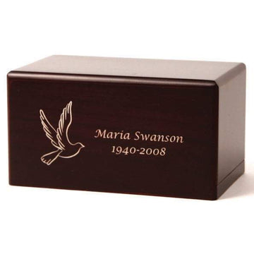 Box Infant Urn in Cherry