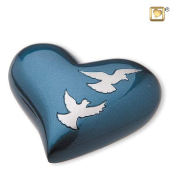 Heart Flying Doves Keepsake