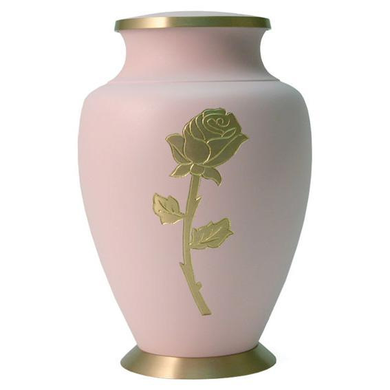 Aria Rose Solid Brass Urn