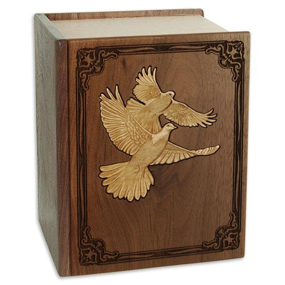 Doves Wood Companion Urn