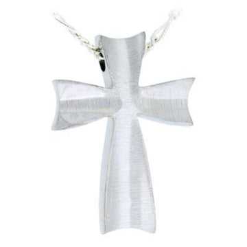 Satin Finish Cross Pendant