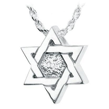 Star Of David Keepsake Pendant