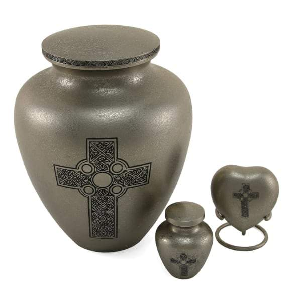 Celtic Cross Heart Keepsake Urn
