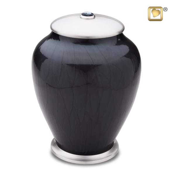 Tall Simplicity Midnight Pearl Urn