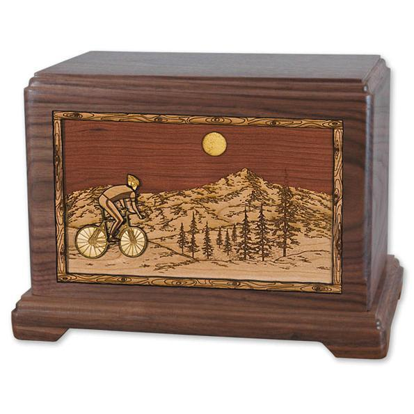 bicycle wood urn