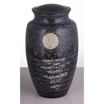 Mother of Pearl Inlay Moon Urn