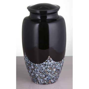 Waves Mother Of Pearl Cremation Urn