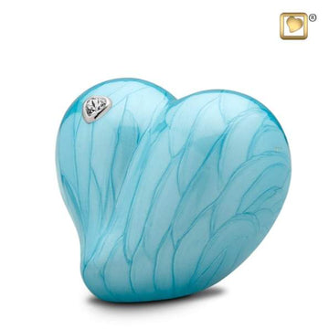LoveHeart Blue Infant Urn