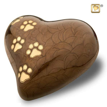Heart Pet Pearlescent Bronze Urn