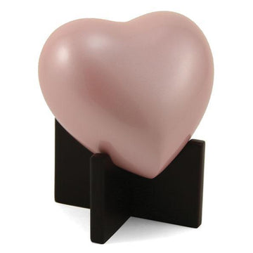 Arielle Heart Child Urn in Pearl Pink
