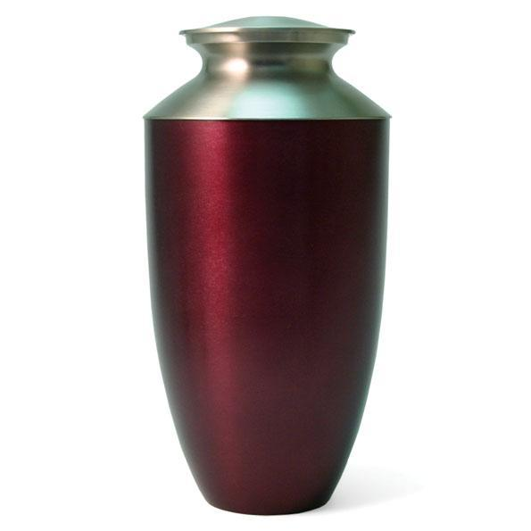 Monterey Ruby Aluminun and Brass Urn