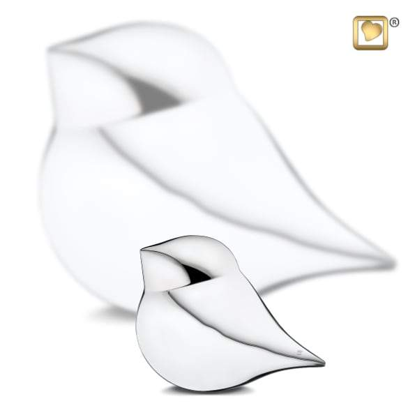 Silver SoulBird Male Cremation  Keepsake