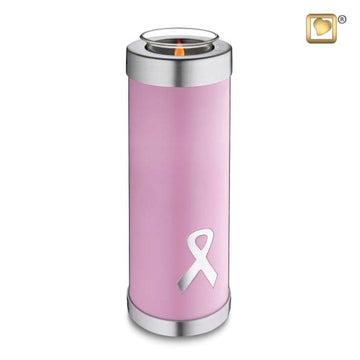 Tealight Tall Awareness Pink Keepsake