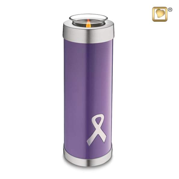 Tealight Tall Awareness Purple Keepsake