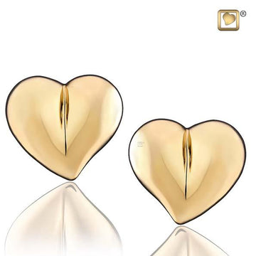 Stud Earrings LoveHeart Gold Vermeil