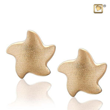 Stud Earrings Angelic Star Gold Vermeil Two Tone